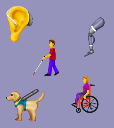 Emojis mit Handicap