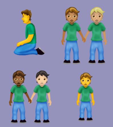 Geschlechtsunspezifische Emojis