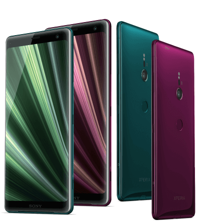 Sony Xperia XZ3 in Forest Green und Bordeaux Red