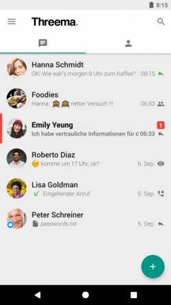Chats Übersicht - Thtreema